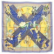 100% Auth Hermes Scarf Shawl Silk 90x90 Les Ballets Russes Unused B830 Photo