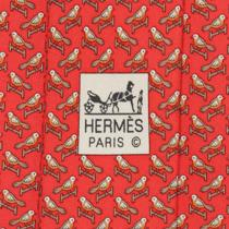 100% Auth Hermes Tie Silk Necktie Mens Whimsical Birds Ona Perch Pattern 5633 Photo