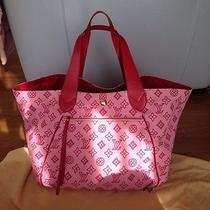 100% Auth Louis Vuitton Cabas Pink Xl Gm Ipanema Bag  Photo