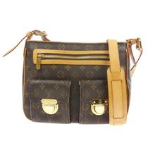 100% Auth Louis Vuitton  Hudson Gm Shoulder Bag Monogram Canvas M40045 J03568 Photo