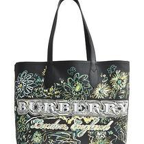 100% Auth New Burberry Doodletote Check Reversible Check Tote Bag/handbag/purse Photo