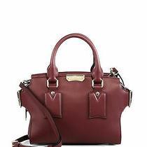 100% Auth New Burberry Small Gainsborough Signature Red Satchel Bag/handbag Photo