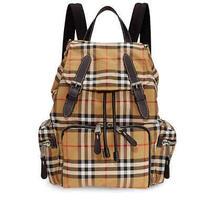 100%Auth New Men/woman Burberry Rucksack Medium Nylon Vintage Check Backpack/bag Photo
