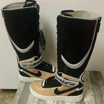 100%Auth Nike Air Force 1 Boot Sp Riccardo Tisci Givenchy Tan Sz 7.5 (669918-200 Photo