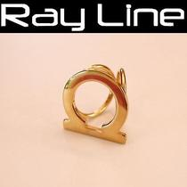 100% Auth Salvatore Ferragamo Scarf Ring Gold (Used) Photo
