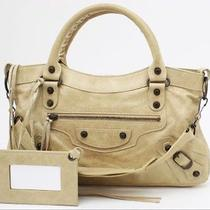 100% Authentic Balenciaga First Bag Tote Beige Like New Photo
