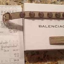100% Authentic Balenciaga Giant Stud Leather Bracelet  Photo