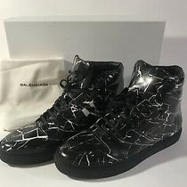 100% Authentic Balenciaga Marble High Top Sneakers Black Mens Size 9us 42eu Photo