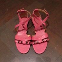 100% Authentic Balenciaga Pink Sandals 2013 Size 38.5 Like New Photo