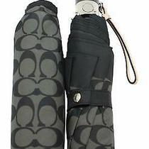 100% Authentic Black Coach Umbrella Style F63364slcbk Retail 85 Photo