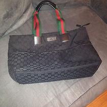 100% Authentic Black Gucci Tote/diaper Bag Photo