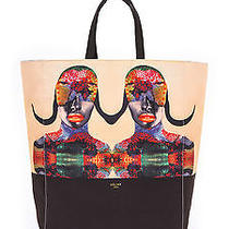 100% Authentic Bnwt Celine 'Born Free Tote Bag' Cabas Handbag Shoulder Black Photo