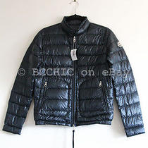 100% Authentic Bnwt Moncler 'Bloson Jacket' Quilted Down Navy Dark Blue Xxs 00 Photo