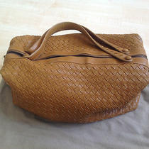 100% Authentic Bottega Veneta Brown Leather Woven Hobo Hand Bag Photo