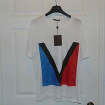 100% Authentic Brand New With Tags Mens Louis Vuitton T-Shirt Slim Fit X-Large Photo