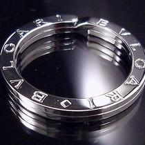 100% Authentic Bvlgari Key Ring Sterling Silver 925 Excellent Condition 224 Photo
