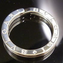 100% Authentic Bvlgari Key Ring Sterling Silver 925 Excellent Condition 193 Photo