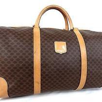 100% Authentic Celine Macadam Pattern Boston Travel Hand Bag Junk (E17) Photo