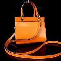 100% Authentic Celine Orange Shoulder Hand Bag Small H356 Photo