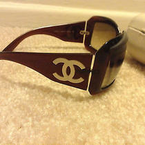 100% Authentic Chanel Mother of Pearl Brown Sunglasses Photo