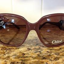 100% Authentic Chloe Sunglasses Cl2192 Pinkish Brown Photo