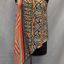 100% Authentic Clover Canyon Chiffon Multi Color Top Size Xs Photo