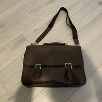 100% Authentic Coach Lexington Leather Flap Business Brief Briefcase Photo