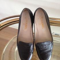 100% Authentic Coco Chanel Brown Leather Flat Loafer Size 39 M Photo