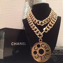 100% Authentic Coco Chanel Paris Massive Chain Link Logo Necklace/ Belt Photo