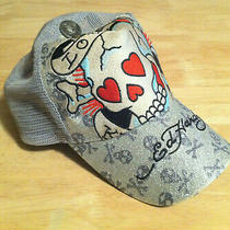 100% Authentic Ed Hardy Silver Skulls Hat - Almost 20 Years Old Photo