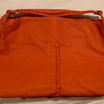 100% Authentic Euc Bottega Veneta Large Cervo Hobo Bag Orange Leather Photo