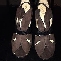 100% Authentic Fendi Jardin Butterfly Platform Sandal Peep Toe Photo
