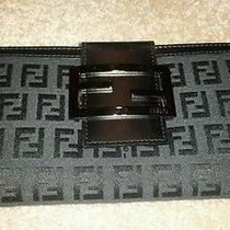 100% Authentic Fendi Woman Wallet Nwb Ff Black Valentine Gift Photo