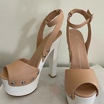 100% Authentic Giuseppe Zanotti. Leather Open Toe Platform Heels Size38 Photo