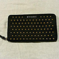 100 % Authentic Givenchy Wallet Wrist Clutch Black With Spikes Photo