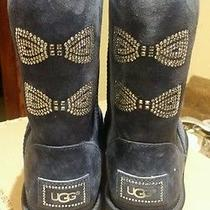 100%Authentic Guaranteed Brand New Ugg Womens Classic Shot Crystal Bow Boot Sz 6 Photo