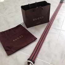 100% Authentic Gucci Belt (Unisex) (Size 44)(Nwt) (295) W/dust Bagshopping Bag Photo