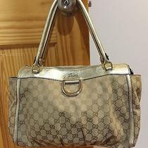 100% Authentic Gucci Gold/sand D Ring Tote Shoulder Bag Mint Condition-by Owner Photo
