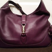 100% Authentic Gucci Jackie Hobo in Purple Color Msrp 2140  Mint Like New Photo