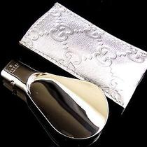 100% Authentic Gucci Shoe Horn Silver Plate With Box C235 Photo