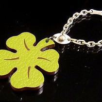 100% Authentic Hermes Clover Motif Sterling Silver 925 Key Chain Bag Charm C664 Photo