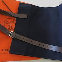 100% Authentic Hermes Etriviere Shopping Tote Bag Blue Canvas Handbag Shopper  Photo