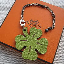 100% Authentic Hermes Porte-Cles Clover Key Ring Bnib Photo