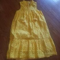 100%  Authentic Kate Spade Yellow Eyelet  Embroidered Patio Midi Dress 478 M Photo