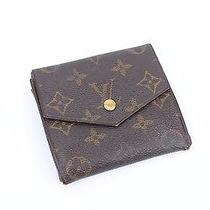 100% Authentic Louis Vuitton Elise Monogram Tri-Fold Purse Wallet Mi0991 Photo
