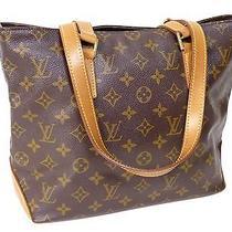 100% Authentic Louis Vuitton Monogram Cabas Piano Shoulder Tote Bag C161 Photo