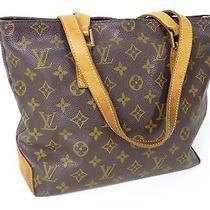 100% Authentic Louis Vuitton Monogram Cabas Piano Shoulder Tote Bag G304 Photo