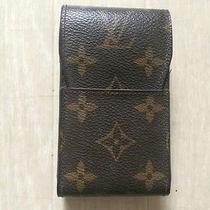 100% Authentic Louis Vuitton Monogram Cigarette Case  M63024 Cell Phone Photo