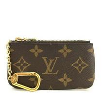 100% Authentic Louis Vuitton Monogram Pochette Cles Wallet Coin Purse /e519 Photo