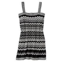 100% Authentic Missoni for Target Black/white Zigzag Knit Dress M  Photo
